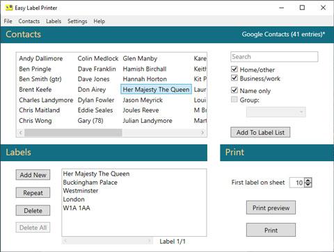Full Easy Label Printer screenshot